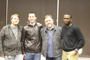 From right to left: Max, Tim Wise, Myself, Spencer